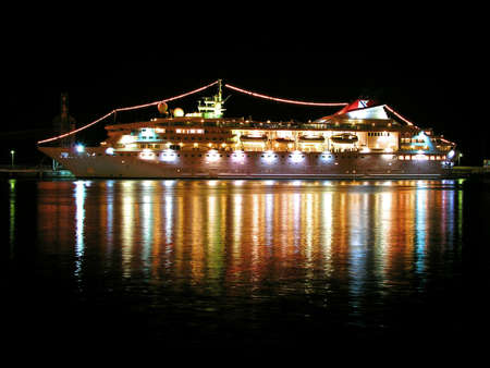 night time: night time cruise liner