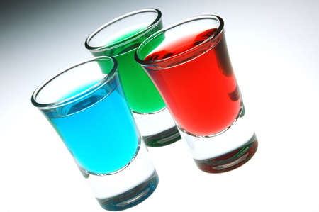 cherry peppermint and mint shots photo