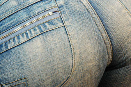 womans tight jeans photo