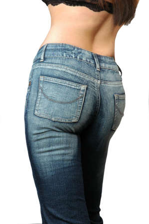 tight jeans: woman wearing jeans