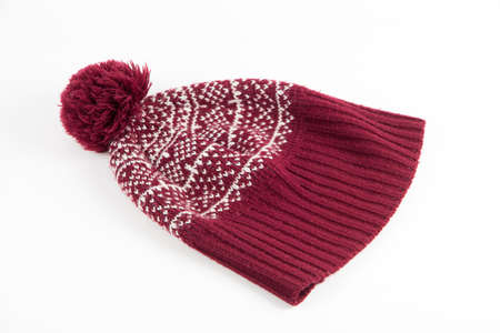 winter hat: A winter hat photographed on the white background
