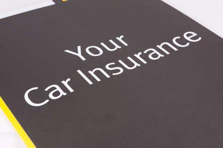 Car Insurance Documents close up. Imagens
