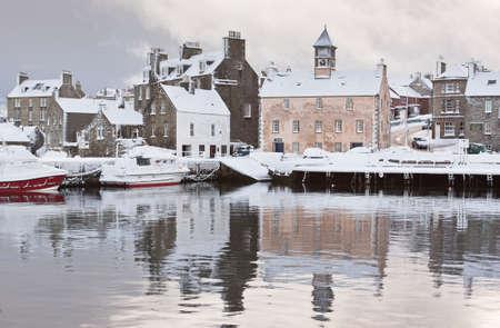 Lerwick in the Shetland Isles, North of Scotland, UK in winter.
