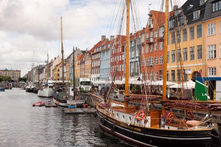 World famous Nyhavn in Copenhagen Denmark