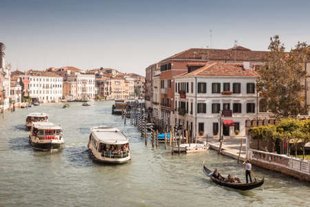 Canal through Venice, Italy. 에디토리얼