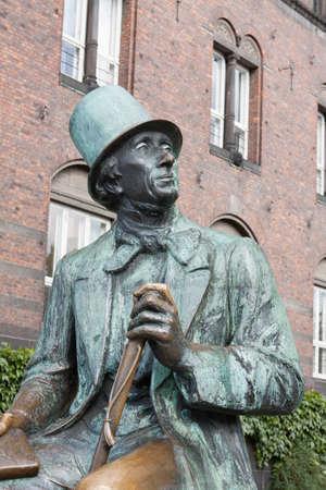The famous Hans Christian Andersen Statue in Copenhagen Denmark