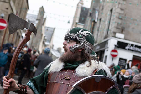 Lerwick, Shetland Isles, Scotland, UK. 29th January 2019. Up Helly Aa viking fire festival which is unique to Shetland and held on the last Tuesday in January each year.