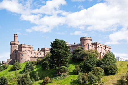 The famous Inverness Castle in Inverness, Scotland, UK.