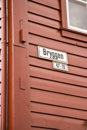 A sign on the Bryggen in Bergen, Norway.