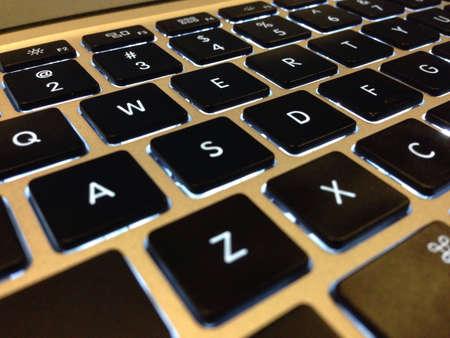 backlit keyboard: A nice backlit keyboard Stock Photo