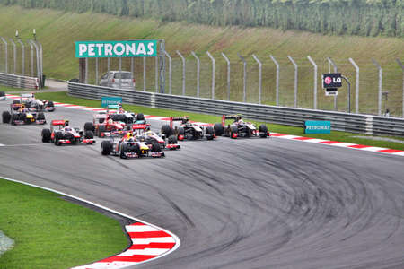 f1: F1 race event at sepang circuit in Malaysia