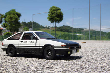toyota: Toyota corolla ae86 118 diecast car Stock Photo
