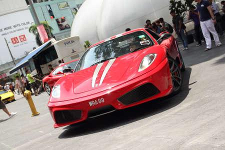scuderia: Ferrari F430 Scuderia at road show event Stock Photo