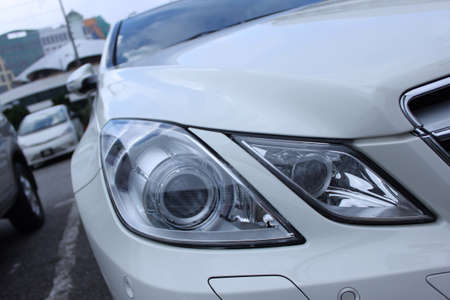 coupe: Mercedes E-class coupe sport car Stock Photo