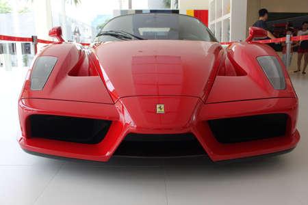 enzo: Front view of Ferrari Enzo sport car in Naza Italia