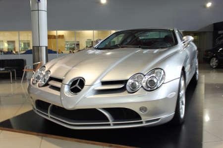 mercedes: Mercedes SLR at Naza Italia Stock Photo