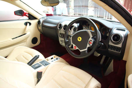interior: Interior view of Ferrari F430