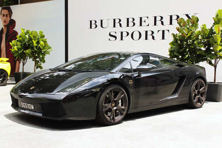 lamborghini: Side view of Lamborghini Gallardo
