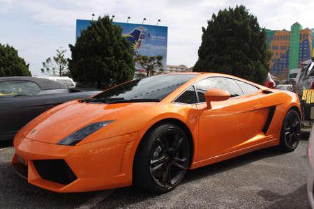 gallardo: Lamborghini Gallardo at Genting roadshow Stock Photo