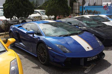 gallardo: Side view of Lamborghini Balboni Gallardo at Genting roadshow Stock Photo