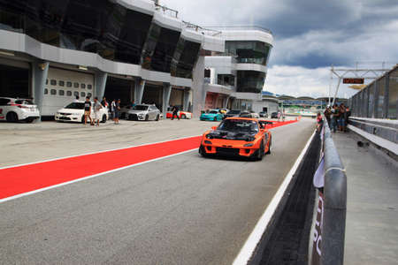 mazda: Mazda RX-7 race car at sepang circuit Stock Photo