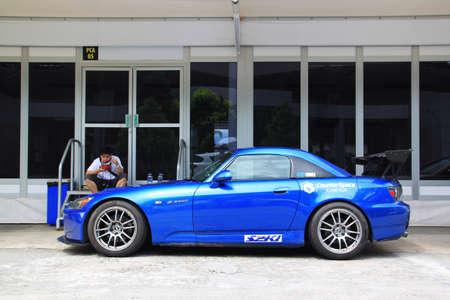 honda: Honda S2000 race car at sepang circuit