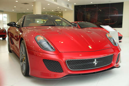 ferrari: Ferrari 599 GTO sport cat at Naza Italia showroom Stock Photo