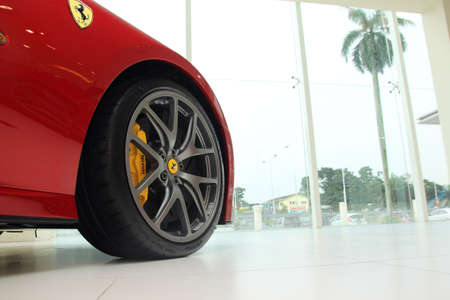 ferrari: Ferrari 599 GTO sport car at Naza Italia showroom