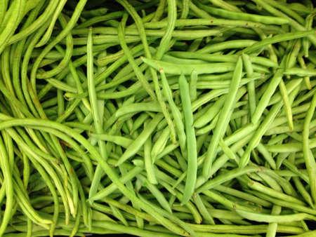 long beans: Fresh long beans from supermarket