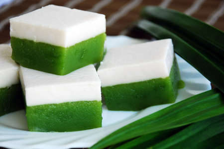 Asian delights, Nyonya kueh talam (tray cake)