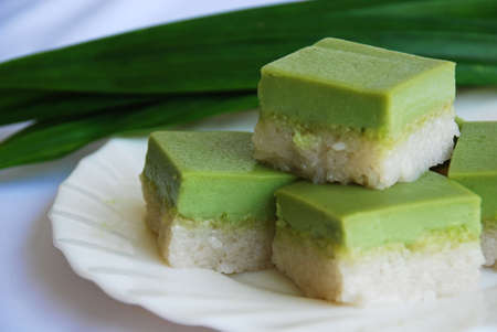 starchy food: Asian delights, Nyonya kueh Serimuka