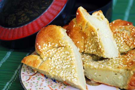 Asian delights, nyonya kueh - Kueh Bakar (Malay Cake)