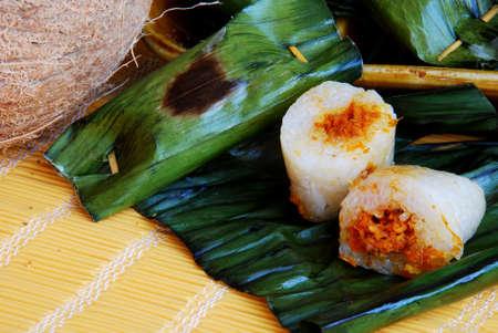 Asian delights, nyonya kueh - Pulut Panggang (Grilled glutinous rice)