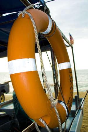buoyant: Orange buoyant safety at sea Stock Photo