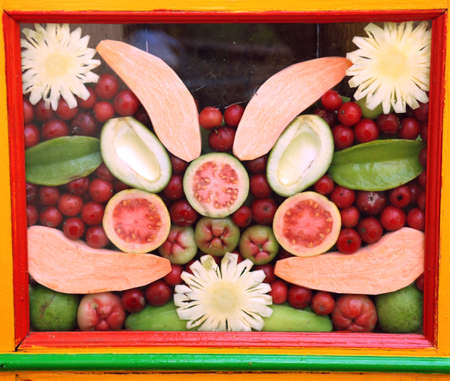 Indonesian fruit pattern design - colorful photo