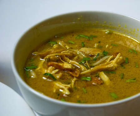 yellow spicy chicken soup with vermicelli - Soto Ayam