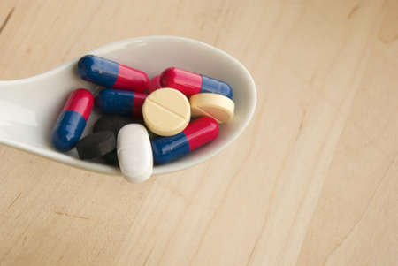 Assorted medication pill - tablet Stock Photo - 3318505