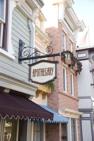 Apothecary signage - storefront display