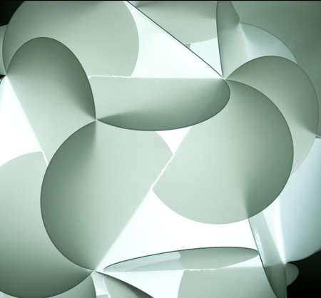 Inter designer light - origami ornament Stock Photo - 3666752