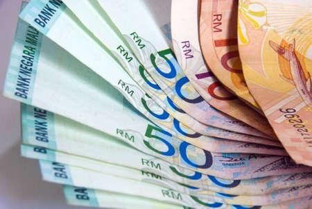 Malaysian bank notes wallet Stock Photo