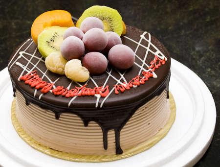 Ice cream fruit cake - desert