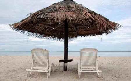Scenic Shot of beach hut - Langkawi Island, Malaysia Stock Photo