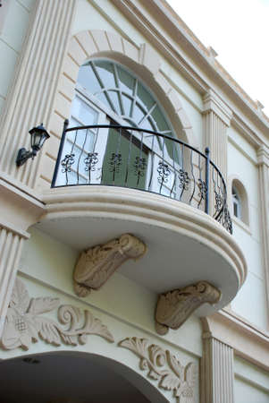 Victorian style balcony design - lower angle Stock Photo
