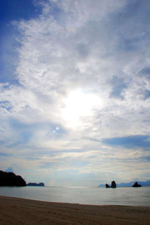 Beach landscape - Tanjung Rhu, Langkawi photo