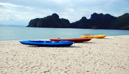 Beached Kayaks Stock Photo - 4169604