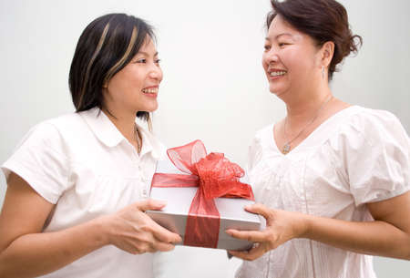 Giving gift Stock Photo - 4411724