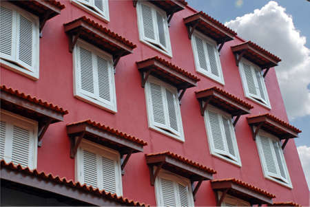 Mallacca red and white window hotel photo