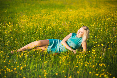 hard day at the office: Young  business woman celebrating her success outside after hard day in office. Freedom concept. Lady having fun in spring or summer meadow. Free happy girl portrait. Successful person. Success.