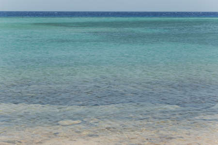 Beautiful nature background. Turquoise water of Red sea in Egypt, Africa. Horizontal color photography. Archivio Fotografico