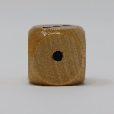 Real wooden die 1 spot